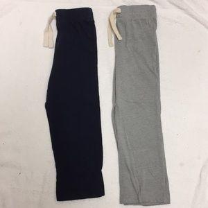 2 EUC Navy Gray Jersey Old Navy Pants 4T